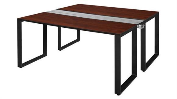 """Workstations & Cubicles Regency Furniture 60"""" x 24"""" 2 Desk Workstation System"""