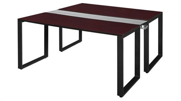 """Workstations & Cubicles Regency Furniture 66"""" x 24"""" 2 Desk Workstation System"""