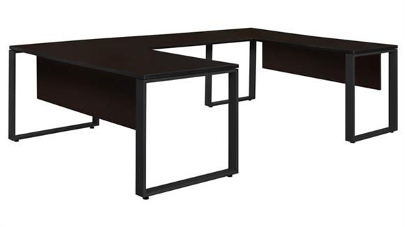 "U Shaped Desks Regency Furniture 66"" x 30"" U-Shaped Desk with 42"" Bridge"