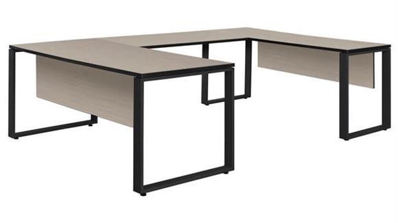 "U Shaped Desks Regency Furniture 66"" x 30"" U-Shaped Desk with 48"" Bridge"