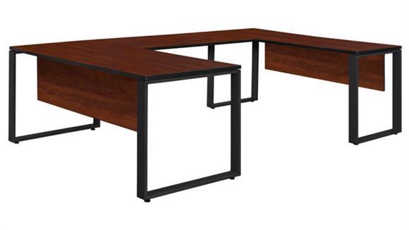 "U Shaped Desks Regency Furniture 72"" x 30"" U-Shaped Desk with 42"" Bridge"