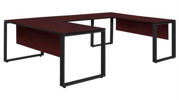 "U Shaped Desks Regency Furniture 72"" x 30"" U-Shaped Desk with 48"" Bridge"