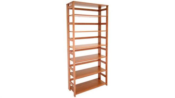 Bookcases Regency Furniture 6 Shelf Folding Bookcase