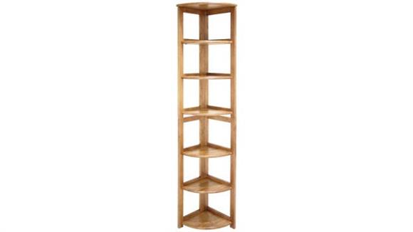 Bookcases Regency Furniture 6 Shelf Folding Corner Bookcase