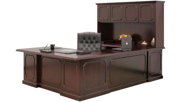 U Shaped Desks Regency Furniture U Shaped Desk with Hutch