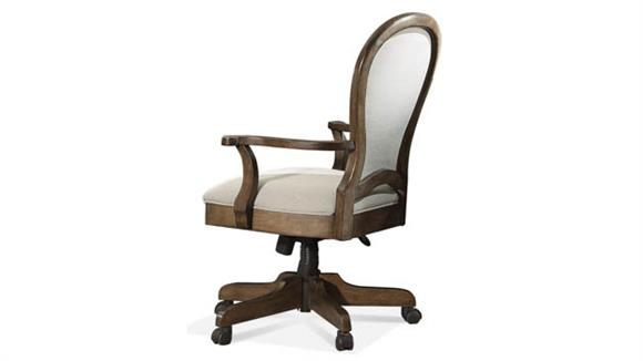Office Chairs Riverside Round Back Upholstered Desk Chair
