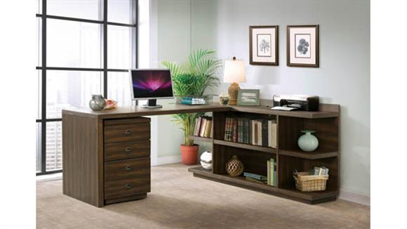 Computer Desks Riverside Peninsula Desk with Return and Mobile File Cabinet