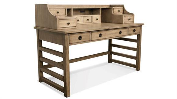 Computer Desks Riverside Leg Desk with Hutch