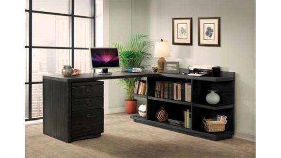 Computer Desks Riverside Peninsula Desk with Return and Mobile File Cabinet