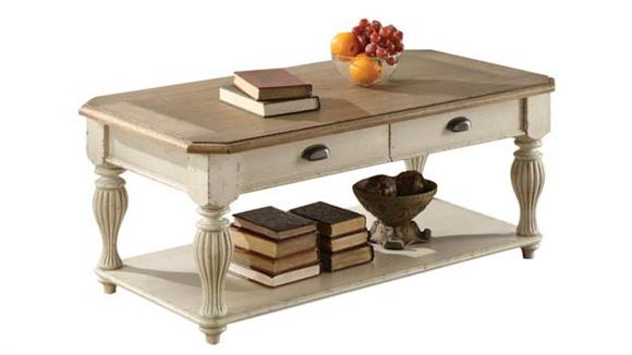 Coffee Tables Riverside Two Drawer Rectangular Coffee Table