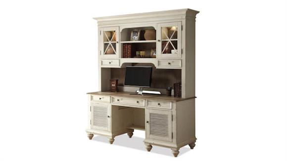 Office Credenzas Riverside Shutter Door Credenza with Hutch