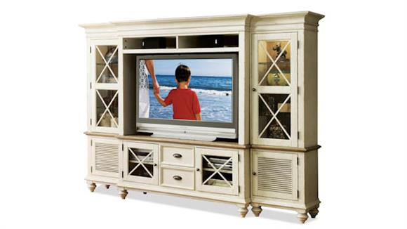 "Entertainment Centers Riverside 58"" TV Console Wall System"