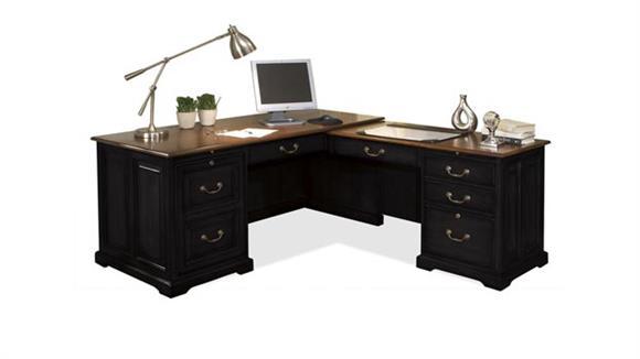 L Shaped Desks Riverside L Shaped Computer Desk