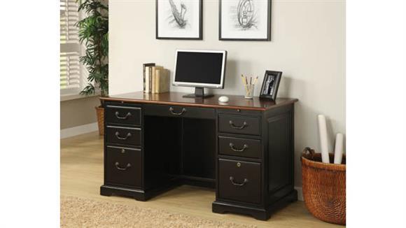 "Executive Desks Riverside 54"" Double Pedestal Desk"