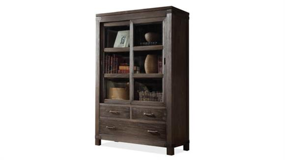 Bookcases Riverside Sliding Door Bookcase