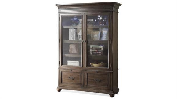 Bookcases Riverside Bookcase with Glass Doors