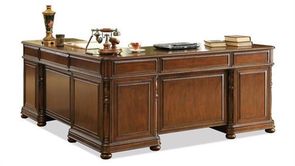 L Shaped Desks Riverside L-Shaped Desk & Return