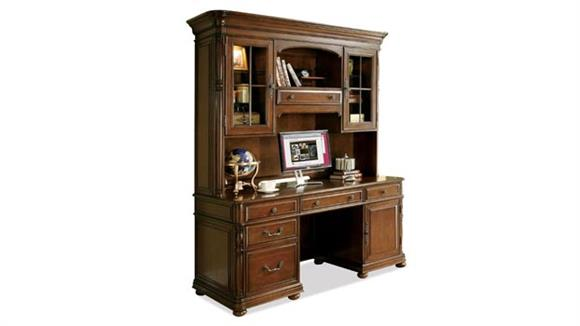 Office Credenzas Riverside Computer Credenza with Hutch