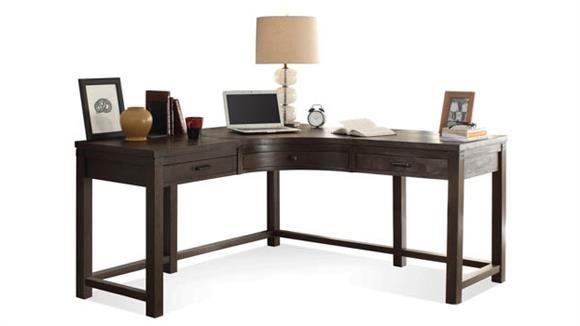 Corner Desks Riverside Curved Corner Desk
