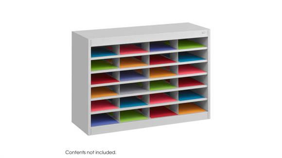 Magazine Literature Storage Safco Office Furniture Steel 24 Compartment Letter Size Organizer