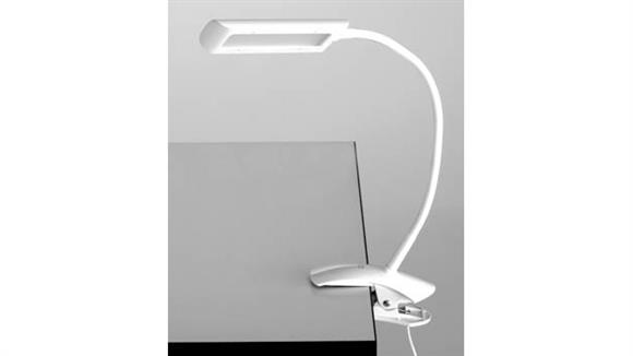 Desk Lamps Safco Office Furniture Clamp-On LED Task Light with Flexible Arm & 3-Step Dimmer