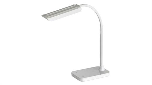 Desk Lamps Safco Office Furniture LED Task Light with Flexible Arm, Touch Strip Dimmer & USB Port