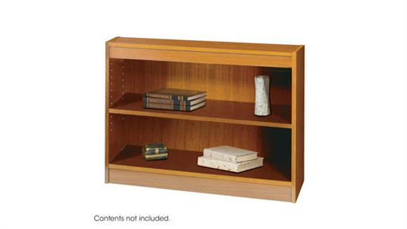 Bookcases Safco Office Furniture Square-Edge Veneer Bookcase - 2 Shelf