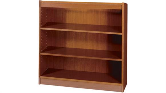 """Bookcases Safco Office Furniture 36""""H x 36""""W Square Edge Veneer Bookcase"""