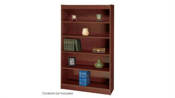 Bookcases Safco Office Furniture Square-Edge Veneer Bookcase - 5 Shelf