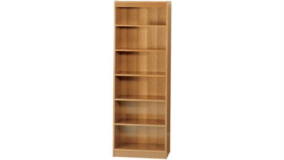 "Bookcases Safco Office Furniture 72""H x 24""W Veneer Bookcase"