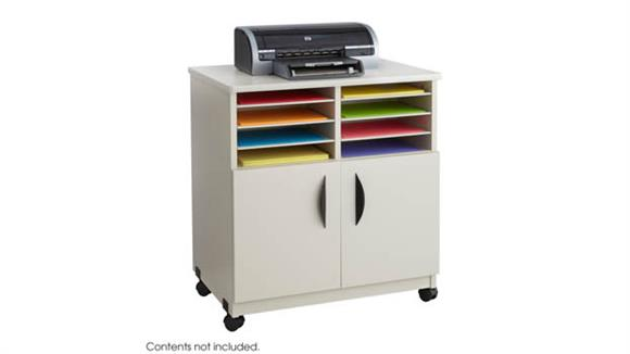 Storage Cabinets Safco Office Furniture Mobile Machine Stand with Sorter
