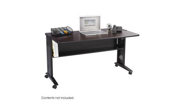 "Computer Tables Safco Office Furniture 54""W Reversible Top Mobile Desk"