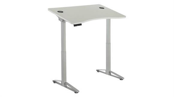 Standing Height Desks Safco Office Furniture Defy™ Electric Height-Adjustable Desk