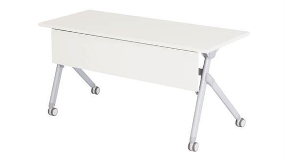 "Folding Tables Safco Office Furniture 60"" x 24"" Nesting Table"