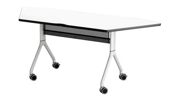 "Training Tables Safco Office Furniture Trapezoid Table - 72"" x 30"""