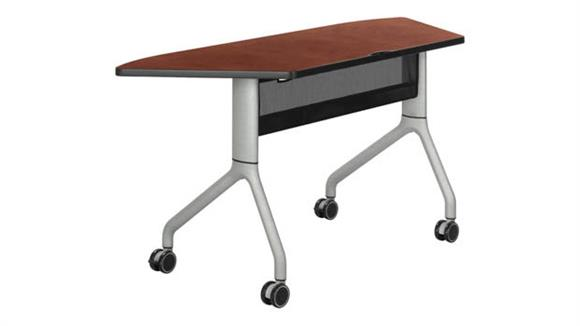 """Training Tables Safco Office Furniture 60"""" x 24"""" Trapezoid Table"""