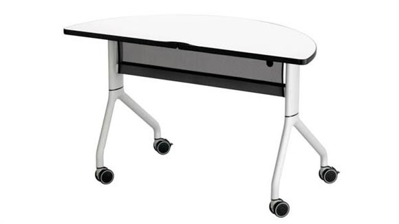 "Training Tables Safco Office Furniture 48"" x 24"" Half Round Table"