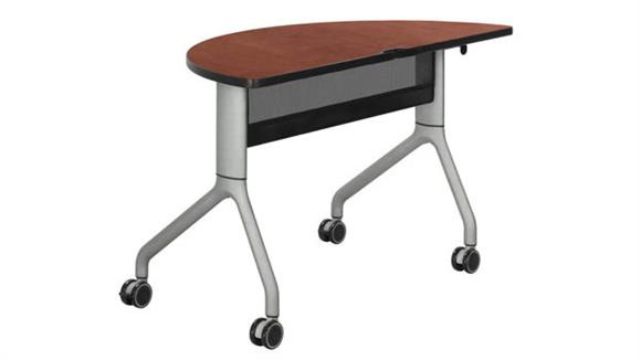 "Training Tables Safco Office Furniture 48"" x 24"" Half Round Training Table"