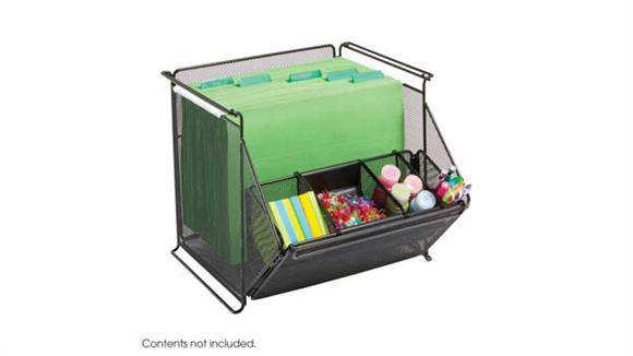 Storage Cubes & Cubbies Safco Office Furniture Onyx™ Stackable Mesh Storage Bins
