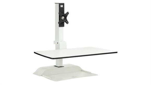 Monitor Stands / Arms Safco Office Furniture Soar™ Electric Desktop Sit/Stand – Single Monitor Arm