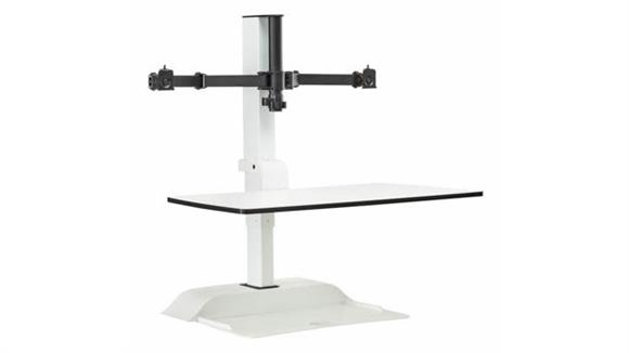 Monitor Stands / Arms Safco Office Furniture Soar™ Electric Desktop Sit/Stand – Dual Monitor Arm