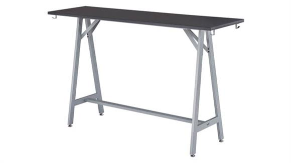 "Standing Height Desks Safco Office Furniture 72""W Standing-Height Teaming Table"