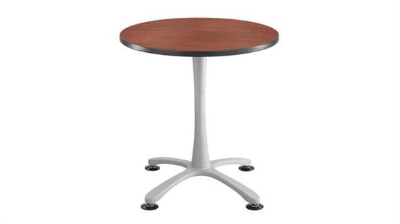 """Cafeteria Tables Safco Office Furniture 30"""" Round, X Base Sitting Height Table"""