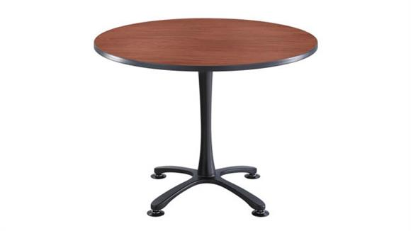 "Cafeteria Tables Safco Office Furniture 42"" Round, X Base Sitting Height"