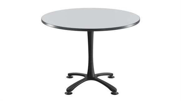 "Cafeteria Tables Safco Office Furniture 42"" Round, X Base, Sitting Height Table"