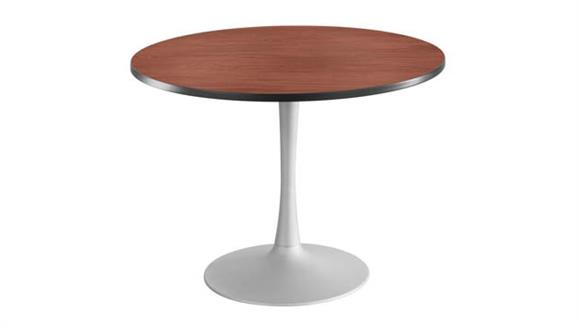 "Cafeteria Tables Safco Office Furniture 42"" Round, Trumpet Base, Sitting Height Table"