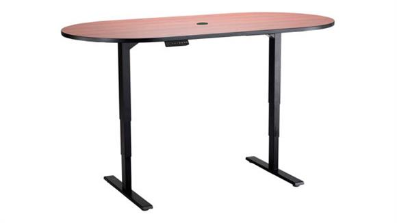 """Adjustable Height Tables Safco Office Furniture Electric Height-Adjustable Teaming Table, Racetrack - 72""""x36"""""""
