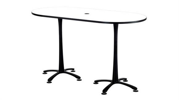 "Pub & Bistro Tables Safco Office Furniture 72""x36"", Racetrack Table, Bistro-Height"
