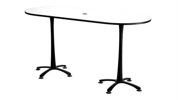 "Pub & Bistro Tables Safco Office Furniture 84""x36"", Racetrack Table, Bistro-Height"