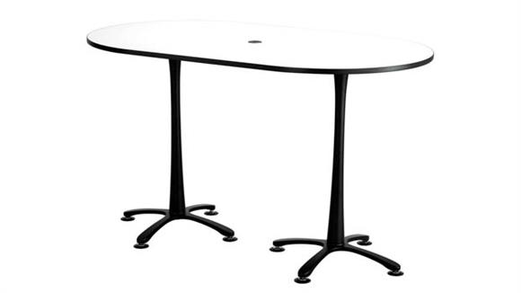 "Pub & Bistro Tables Safco Office Furniture 72""x42"", Racetrack Table, Bistro-Height"